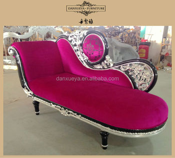 Victorian Princess Sofa Bed Luxury Royal Carving Lounge Furniture Pink