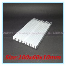 (Special offer) 100x60x10mm Aluminum heatsink radiator for chip LED VGA RAM GPU computer 's component  heat dissipation