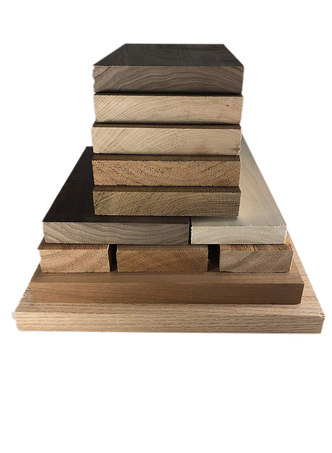Hardwood Lumber Assortment - Mixed Species - Large Box of Hobby Wood – Perfect Boards – Clear Lumber. No Cut-Offs, Scrap, Defects, Knots, and End Checks. Lumber Perfect for Odds and Ends.