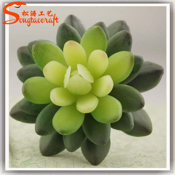 plastic artificial succulents indoor artificial mini succulents lotus mini succulents