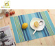 Stripe series custom blue heat resistant cheap plastic pvc kitchen table mats placemat