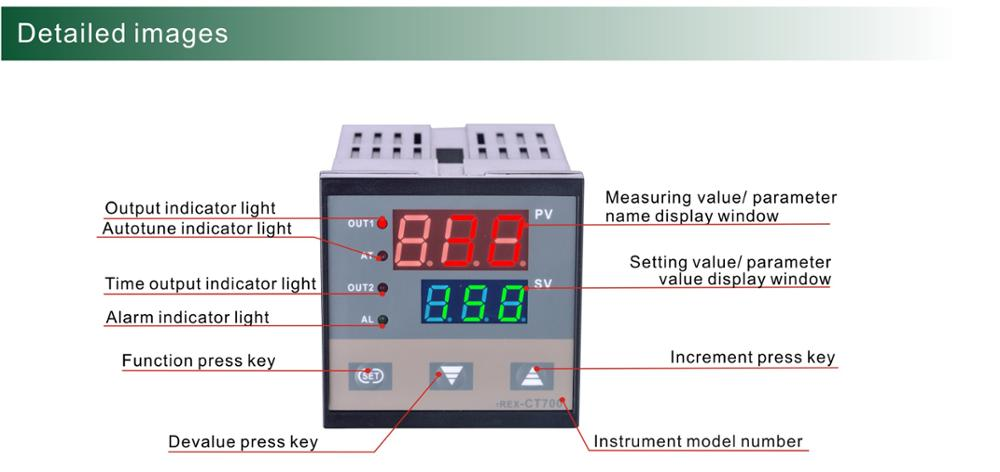 Ct100 4848mm intelligent pid temperature controller and timer ct100 4848mm intelligent pid temperature controller and timer build in trigger relay contact sciox Images