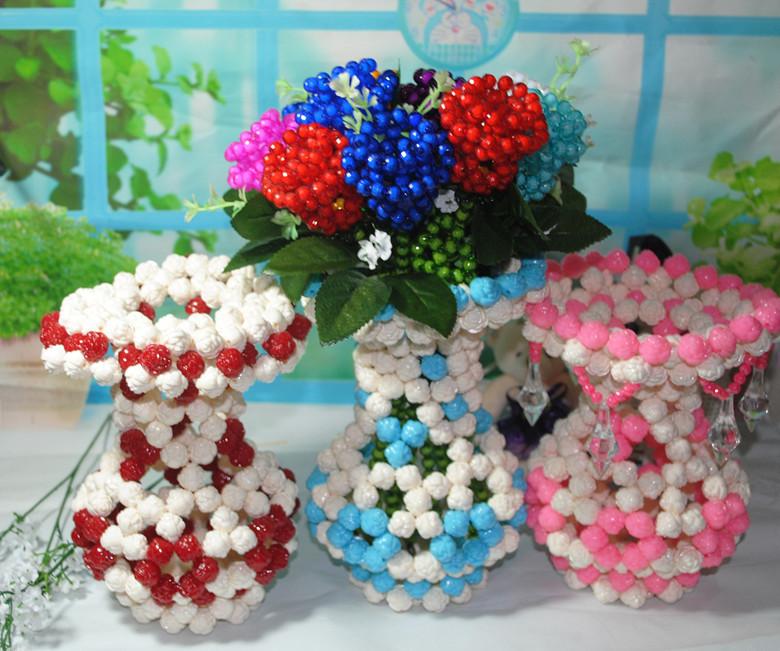 Beautiful Wedding Stage Decoration Crystal Beads Flowers And Vase & Beaded Flower Vase \u0026 Water Beads For Flower Vases Of Crystal Beaded ...