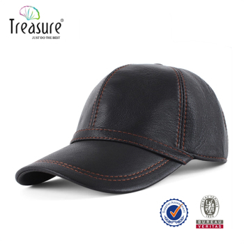 faux leather baseball cap wholesale caps panel with fur pom black