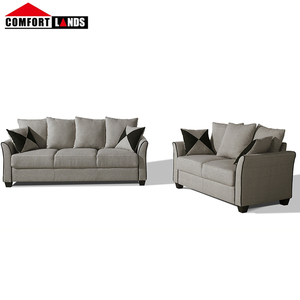 Shenzhen New Design Sofa Colour Combination Sofa Sets Plastic Leg,Living Room Fabric Sofa Set