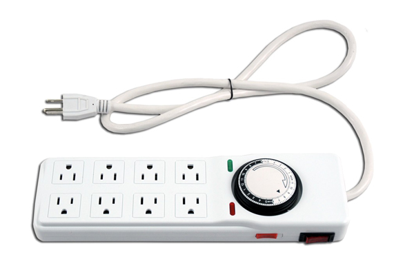 6 outlet power strip with timer