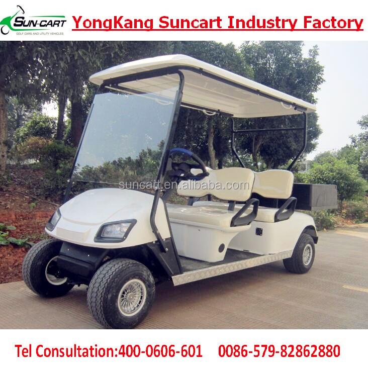 4 seater golf cart,cheap electric golf cart with CE certifications,used golf cart with rear utility box