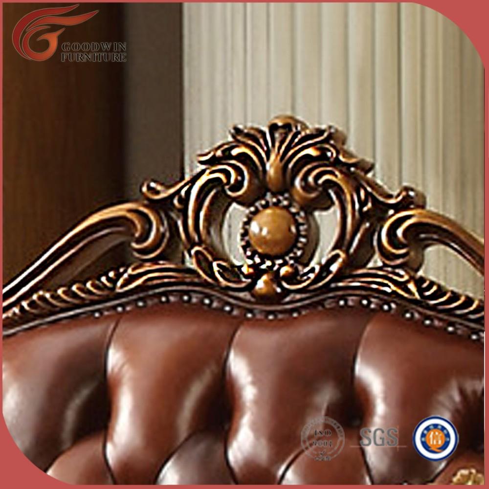 Antik mewah terbaru desain sofa klasik ukiran tangan ruang tamu sofa desain A89