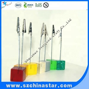 Plastic base metal alligator note clips wholesale