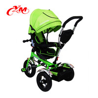 Fashion Green one year old tricycle/multifunction 4 in 1 kids trike can Rotating seat/factory supply OEM baby tricycles