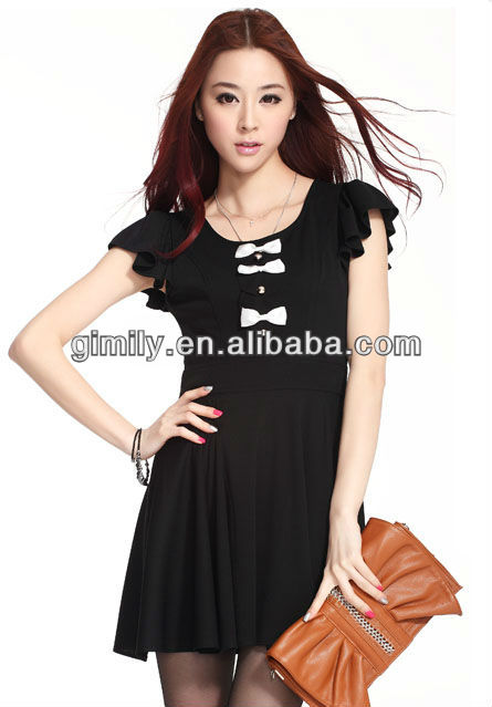 women casual black dress clothes elegant dress for office ladies