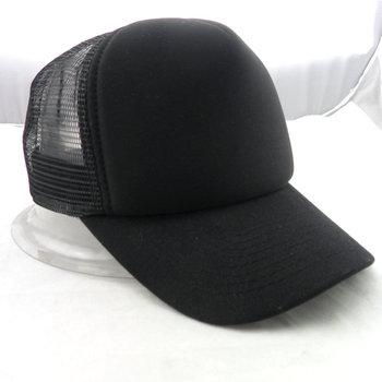 Small Head Retro Custom Embroidered Top All Black Trucker Hat - Buy ... 7dd669b18b5
