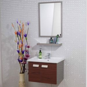 Manufacturer Stainless Steel Factory Direct Bathroom with Normal Mirror Washroom Set Vanity