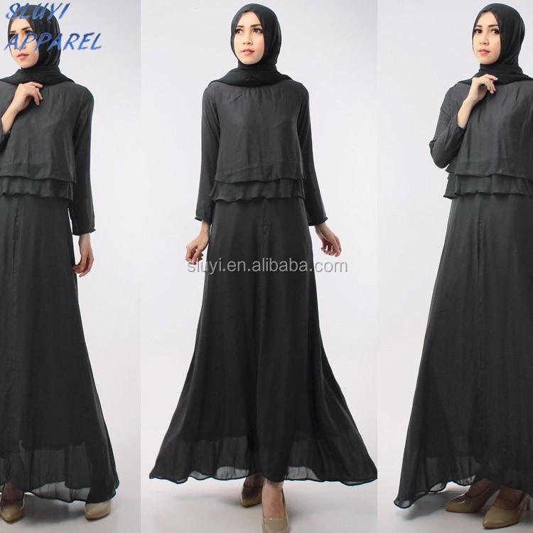 Doppelschicht Top Mit Lange Innenkleid Für Islamische Kleidung ...