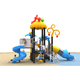 Forest theme insect park outdoor Playground plastic slides for kids