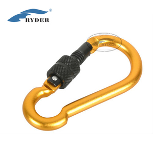 7cm Aluminum Outdoor Gourd Shape Locking carabiners Key Ring