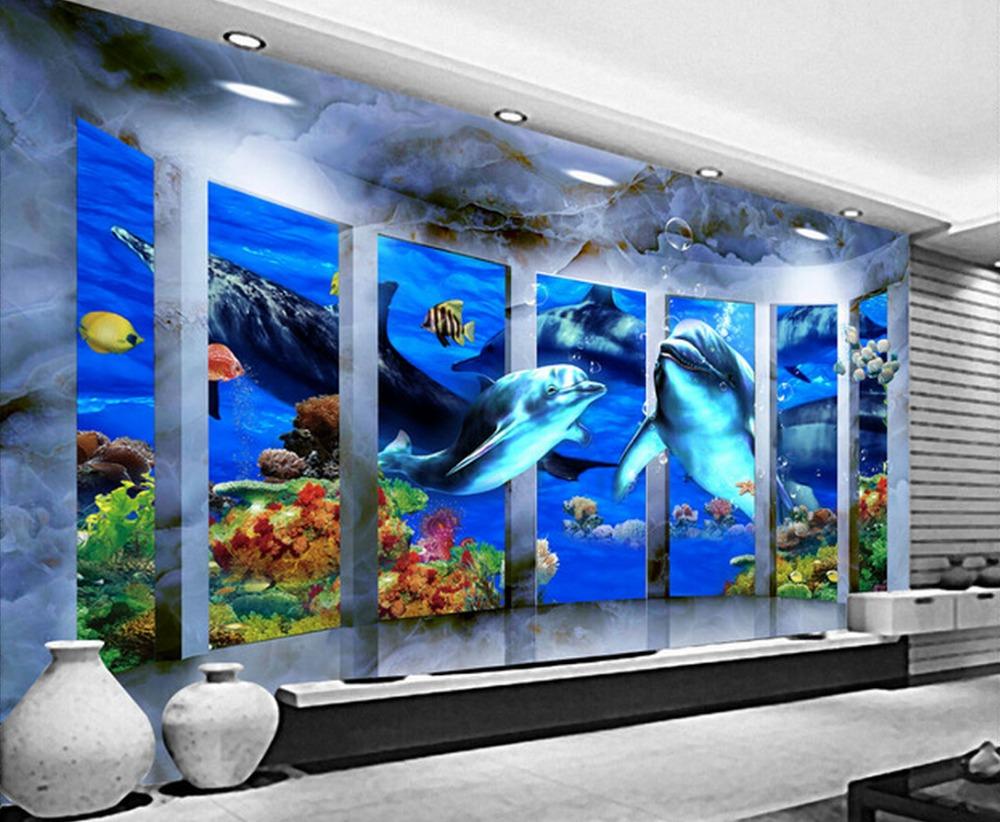 Free Sample High Quality Grade Aaa Sea World 3d Tiles For Bathroom ...
