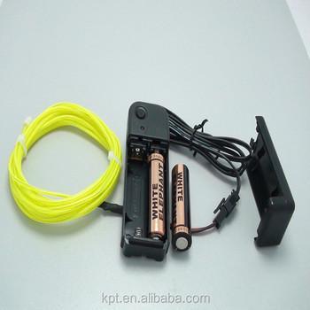 El Wire Flexible Neon Wire 3v Dc,12v Dc Battery Pack Inverter ...