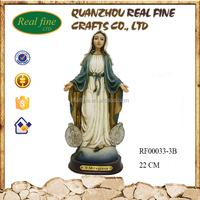 Polyresin 22 cm outdoor virgin mary statue