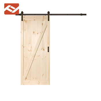 Interior One Panel Z Brace Knotty Alder Stained Solid Wood Slab Barn Door