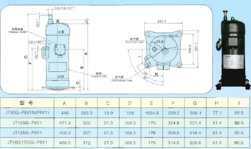Daikin Scroll Compressor Jt Series Catalogue