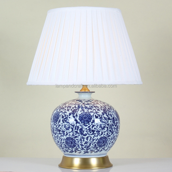 Hot Sale Ivory Pleated Fabric Lamp Shade For Table Lamp With ...