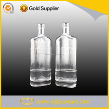 Fancy designed spirits wholesale rum glass bottle