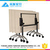 Melamine board wooden folding training table office workstation foldable desk