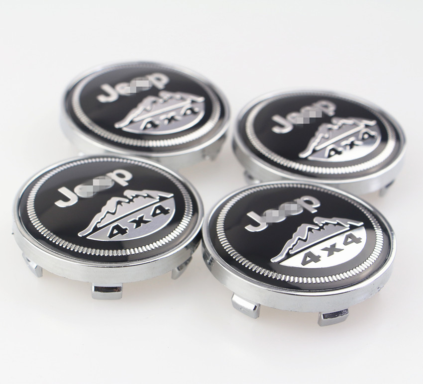4pcs 56mm 2.2'' Wheel Center Hub Caps Badge For Jeep 4x4 Wrangler Grand Cherokee Compass