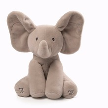 ICTI china factory wholesale plush and stuffed elephant toys with big ears