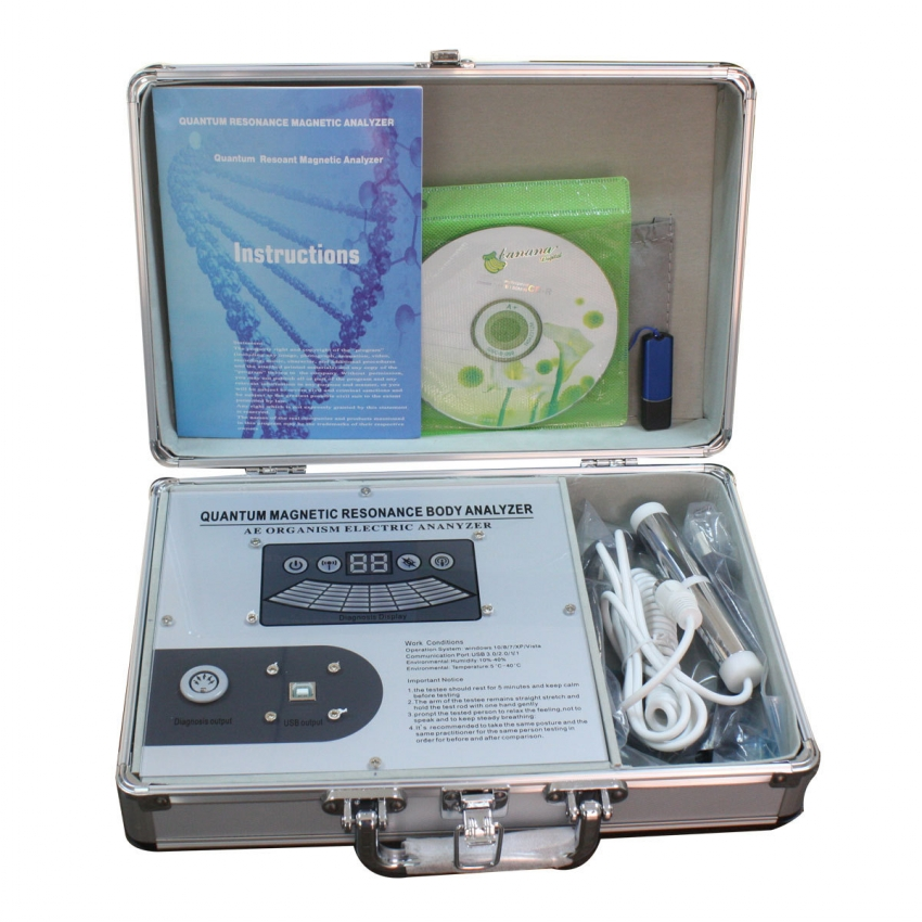 Latest quantum magnetic resonance body analyzer with 52 reports