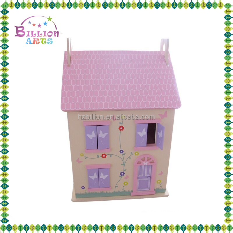 Factory supply pretend play toys kids wooden doll house