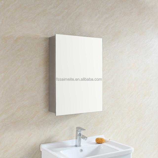 Customized Single Door Bathroom Mirror Cabinet Vanity Cabinets