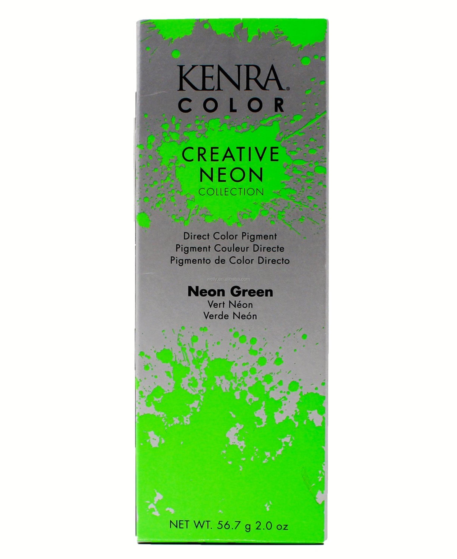 Semi Permanent Neon Hair Colour Green Glowing In Black Light / In Uv ...