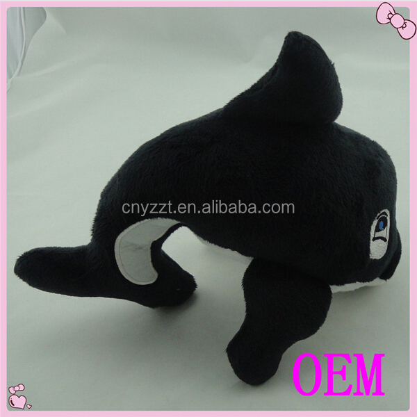 wholesale sea animal toys plush dolphin for baby, plush black dolphin toys