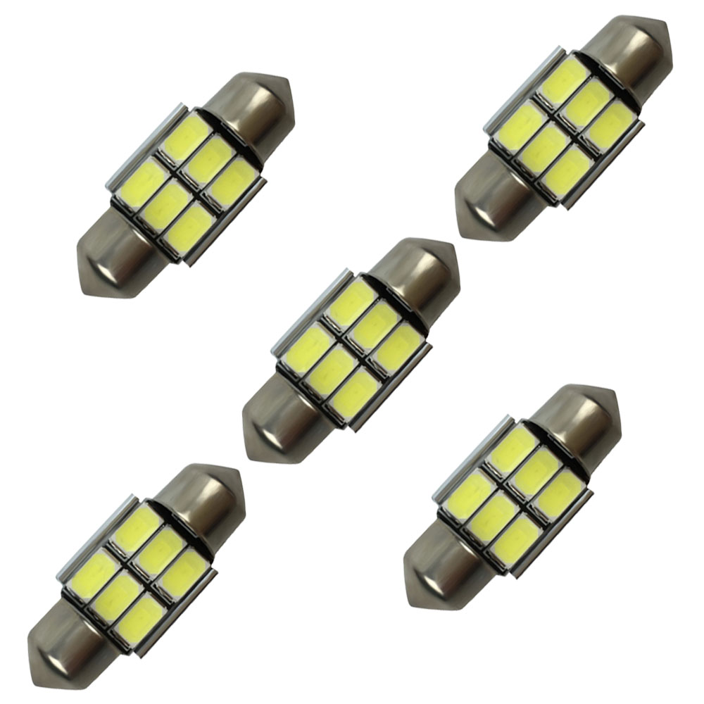 White light 31mm festoon lamp holders 6 smd led turn light 5730 led chip blub reading led lamp car light