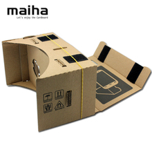 New Arrival DIY Google Cardboard Virtual Reality VR Mobile Phone 3D Viewing Glasses for 5.0″ Screen Google VR 3D Glasses