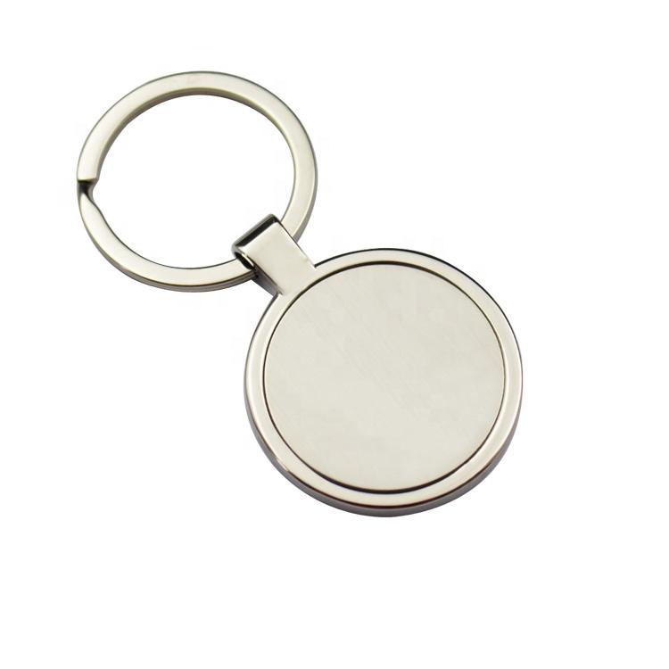 Zhongshan Custom Popular Promotion Gifts Shiny Polishing blank round metal Key Holder / keychain