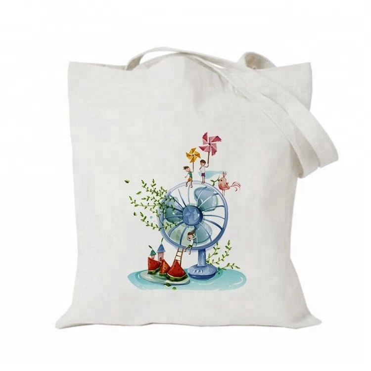 Printing Logo Standard Size Rope Organic Fabric <strong>Eco</strong> Tote Shopping Cotton Bag