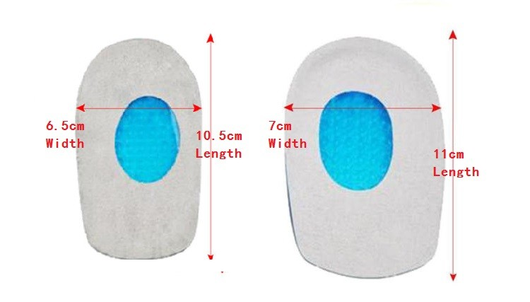 Insole Shoe Care Gel Pads Self-adhesive Silicone Foot Insert Heel Cushion LinerG