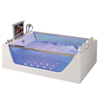 HS-B227A fashion double whirlpool acrylic bath tub,acrylic bath whirlpool