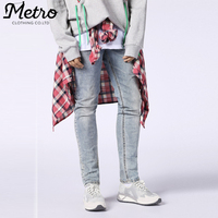 High Quality Fashion Acid Washed Skinny Jeans Pants for Men