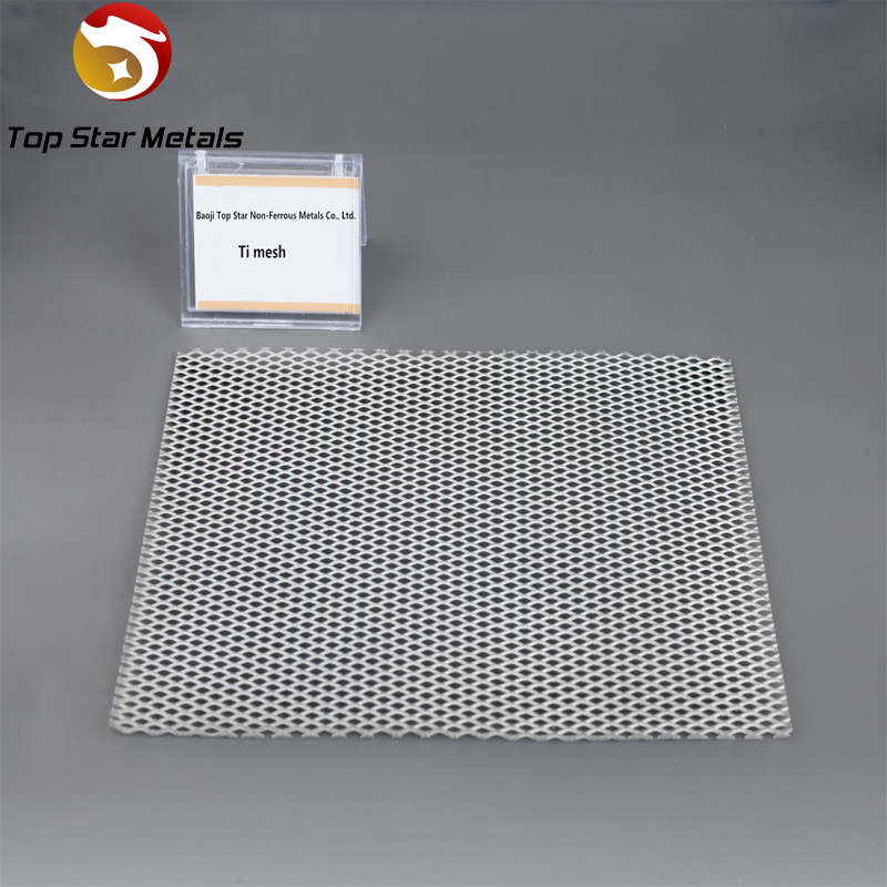 Pure titanium mesh used in electrode