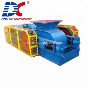 high crushing ratio double roller crusher crushing glass bottle recycling machinery for sale