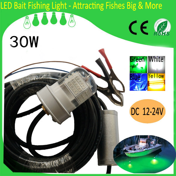 Led Fishing Float With Light 30w For Squid/red Snapper/trout