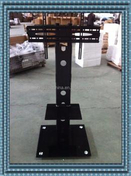 rolling tv cart floor stand mount bracket with dvd shelf u0026 casters
