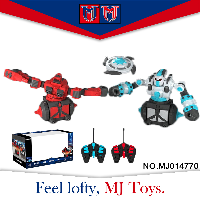 made in china professional rotate fighting double humanoid robot for boy toy
