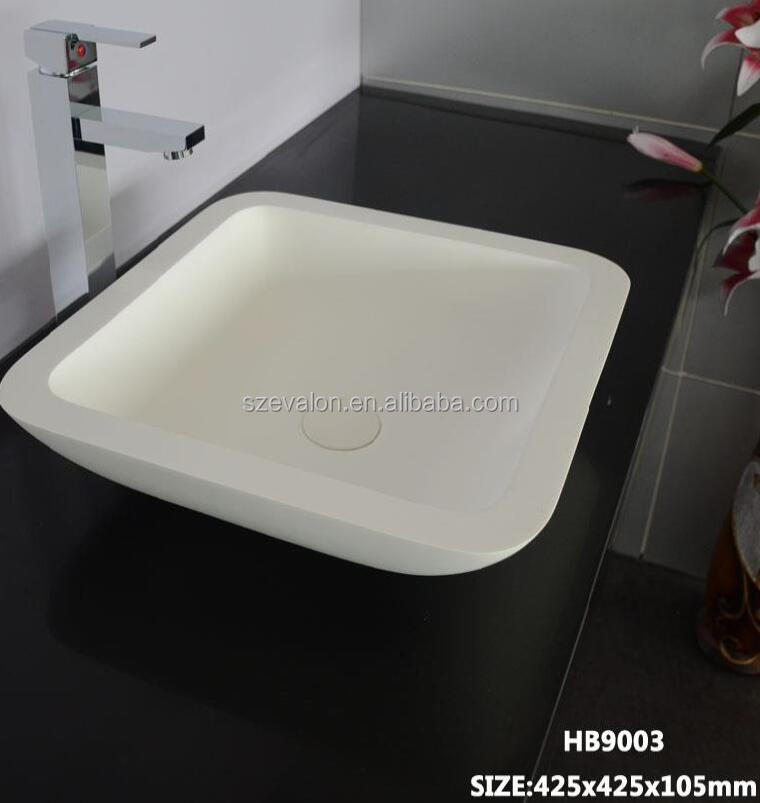 good quality solid surface decorative concrete wash basin,above counter basin