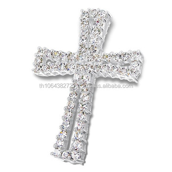 925 sterling silver prong setting cubic zirconia tiny gems clear 925 sterling silver prong setting cubic zirconia tiny gems clear stone cross pendant charming jewelry aloadofball Image collections