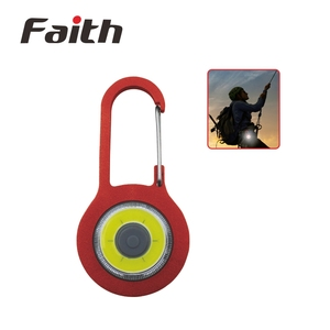 Promotional cob led keychain light portable with carabiner flashlight